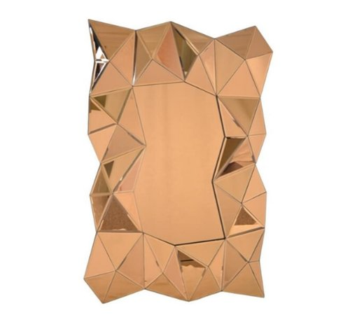L&M Aladin Gouden Spiegel - Rechthoekig -  Spiegelglas
