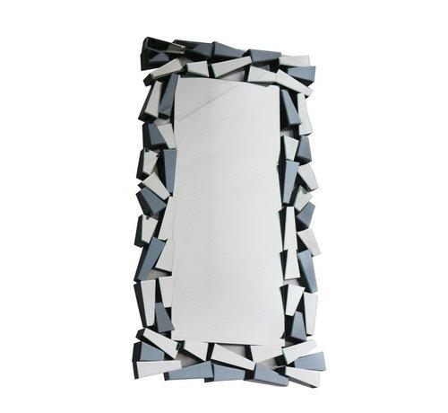 L&M IJsblok Antraciet Spiegel - Rechthoekig - 80 x 140 cm - Spiegelglas
