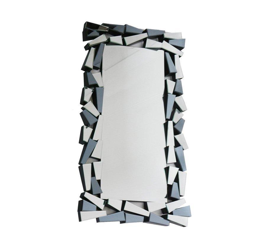 IJsblok Antraciet Spiegel - Rechthoekig - 80 x 140 cm - Spiegelglas
