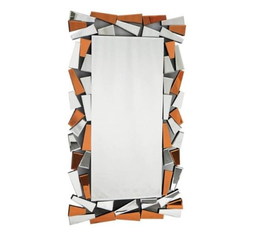 L&M IJsblok Goud /Brons Spiegel - Rechthoekig - 80 x 140 cm - Spiegelglas