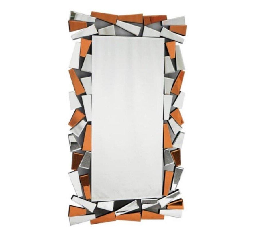IJsblok Goud /Brons Spiegel - Rechthoekig - 80 x 140 cm - Spiegelglas