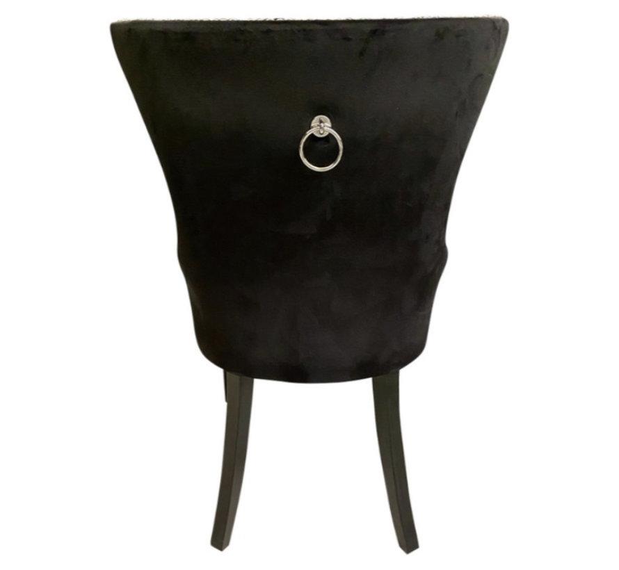 Stoel - Jade (Zwart Velvet)