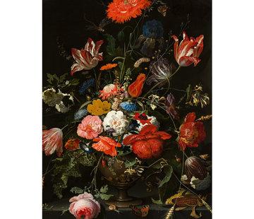 L&M Glasschilderij Bloem - 80x120cm