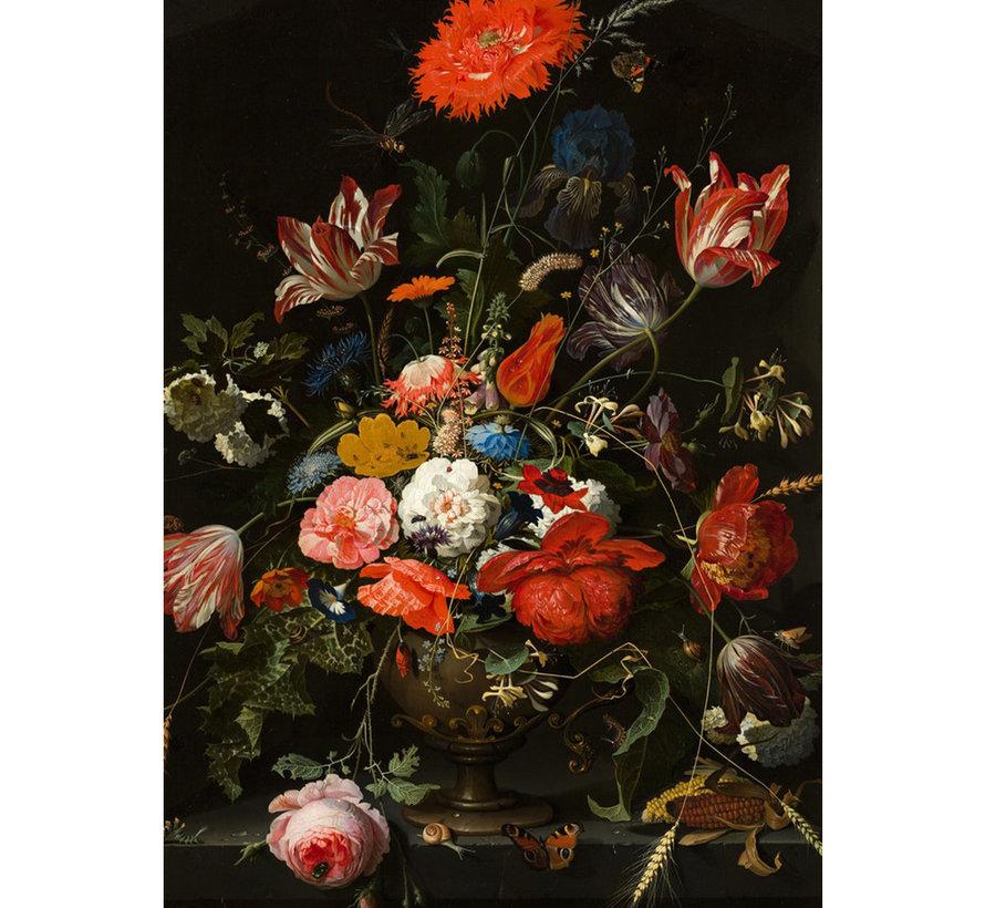 Glasschilderij Bloem - 80x120cm