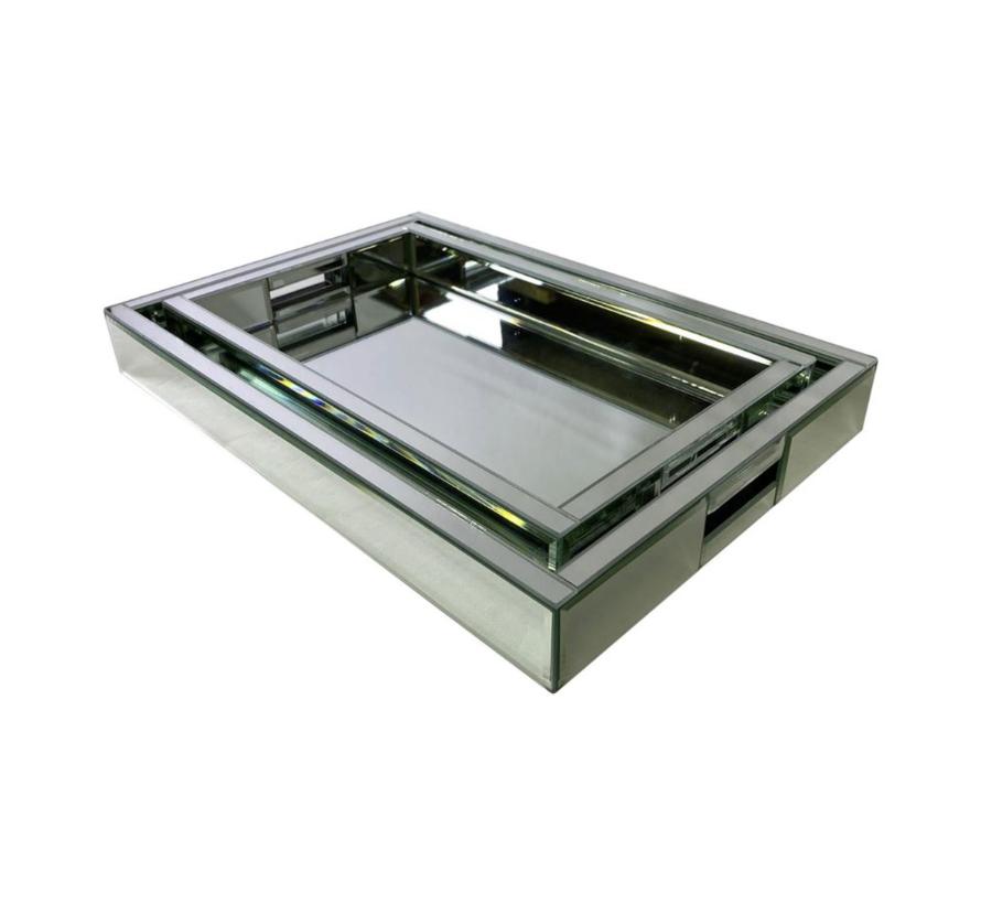 Dienblad Amsterdam - Medium - 40 x 25 cm - Zilver