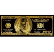 Teres Glasschilderij - 100 Dollar (Goud)
