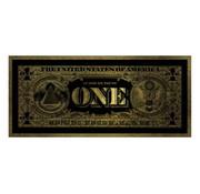Teres Glasschilderij - One Dollar (Goud)