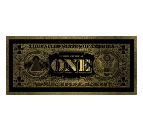 Teres Glasschilderij - One Dollar (Goud)200x80cm