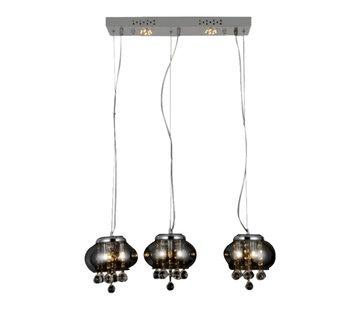 Erik Kuster Style Hanglamp - Mattia 3 (Smoked Glass)