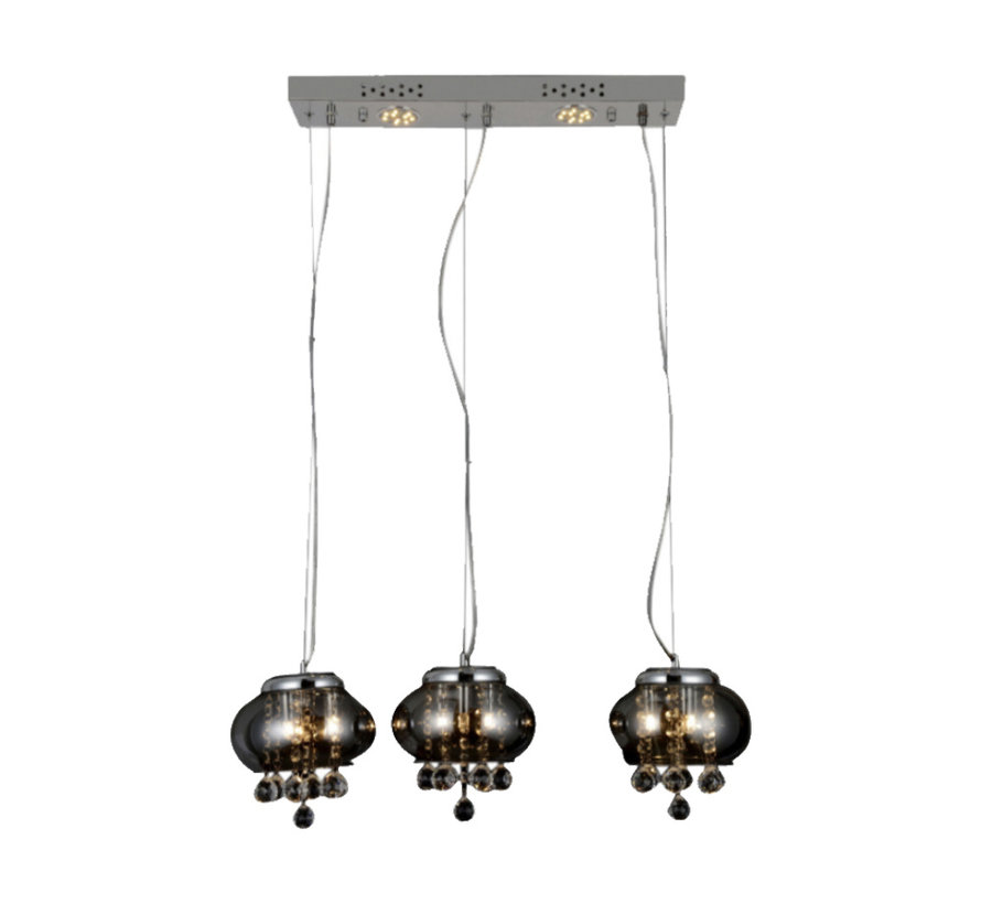 Hanglamp - Mattia 3 (Smoked Glass)