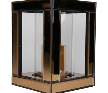 Erik Kuster Style Waxinelichthouder Glas - Brons/Goud