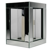 Erik Kuster Style Waxinelichthouder Glas - Zilver