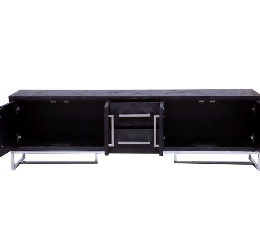Black Bonita TV-Meubel -  180x40x55cm