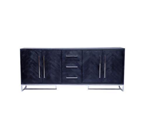 Black Bonita Dressoir - 180 x 40 x 85 cm
