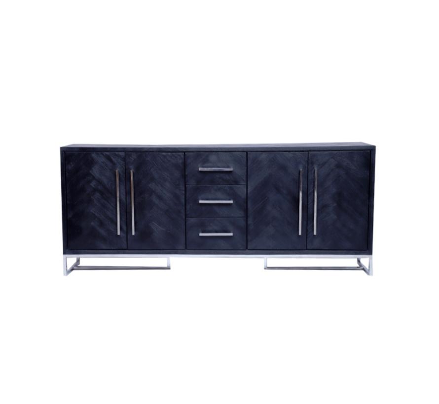 Black Bonita Dressoir - 200 x 40 x 85 cm
