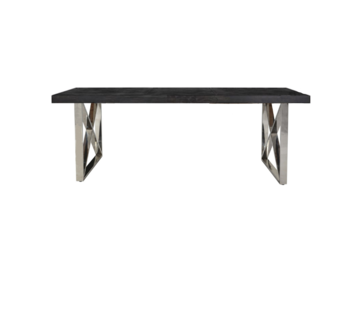 Eric Kuster Style Black Bonita Rixos Eettafel -  Vierkanten Poten