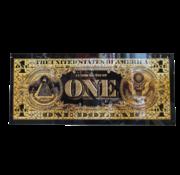 L&M One Dollar Gold - Art Glasschilderij