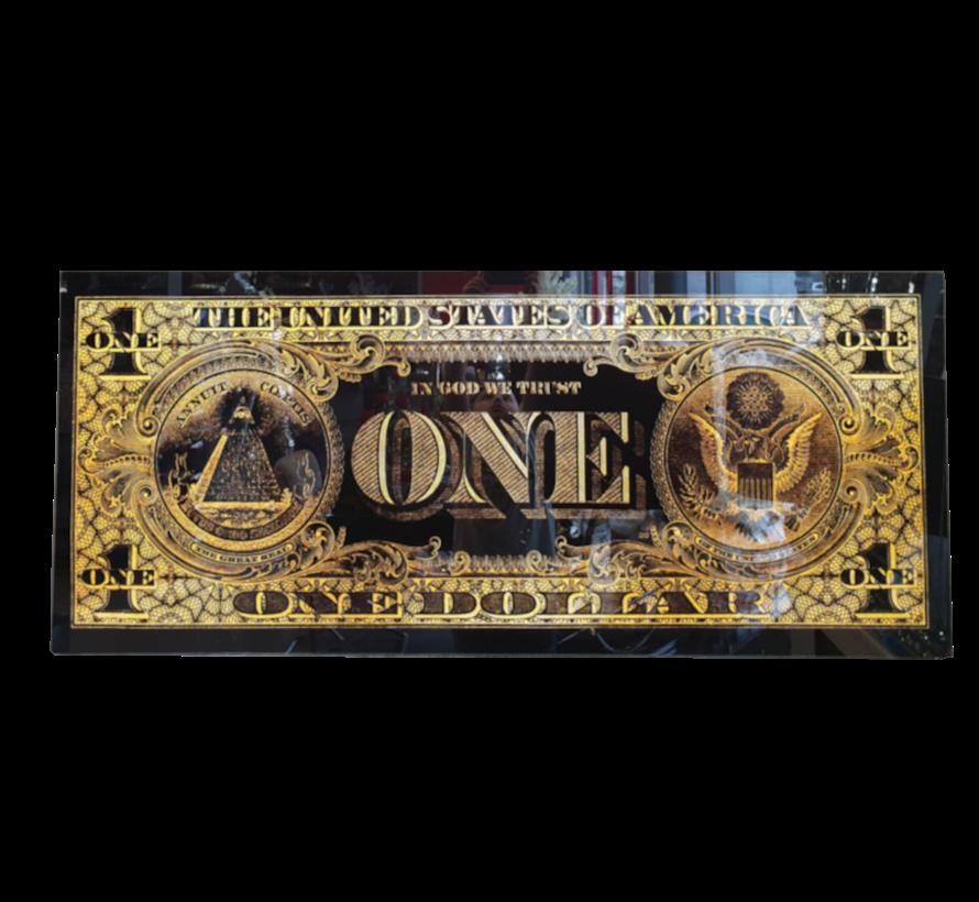 One Dollar Gold - Art Glasschilderij