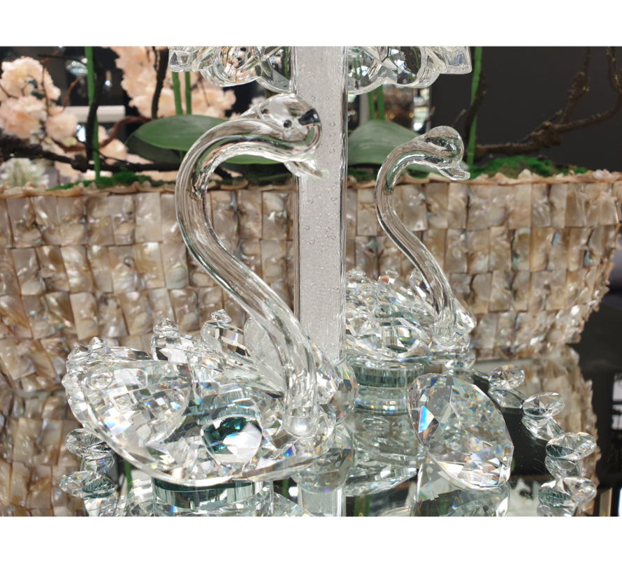 Decoratieve Zwaan tropisch - Glas