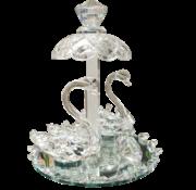 L&M Decoratieve Zwaan tropisch - Glas