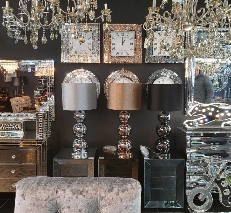 Prachtige Vierkante Klok Erik Kuster Style in Zilver