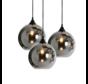 Hanglamp Smoking - 3 lichts - mat zwart