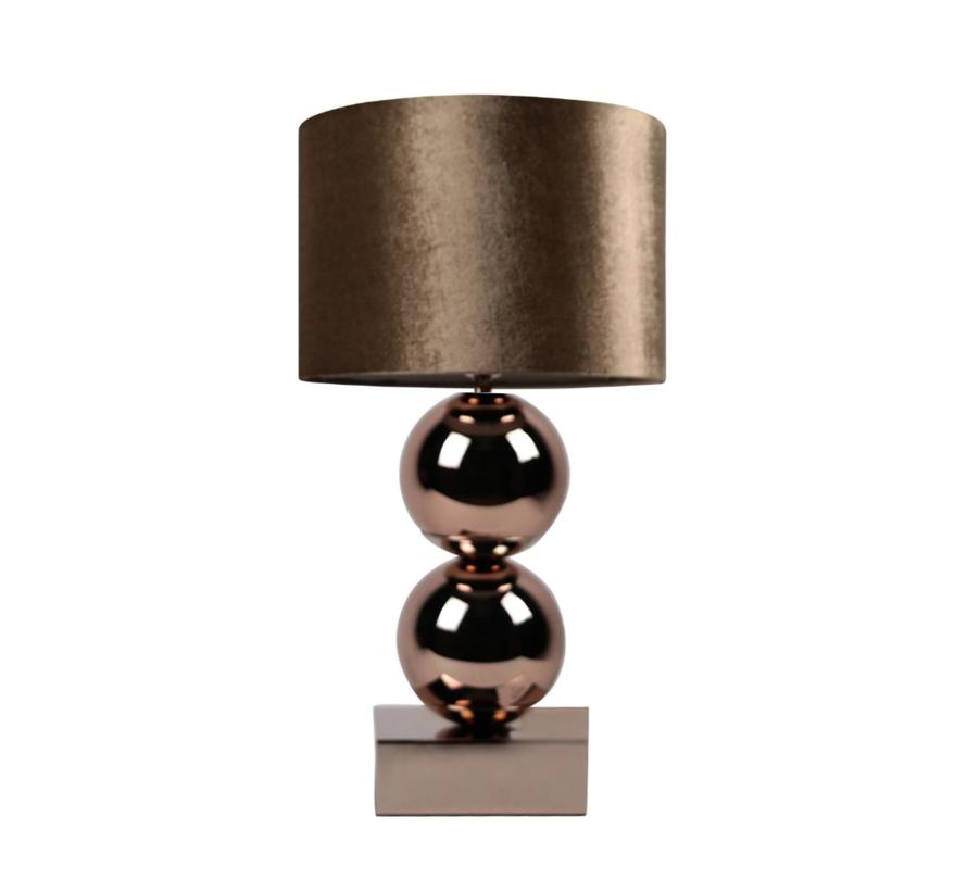 Bollamp - Brons - Tafellamp - 2 Bollen