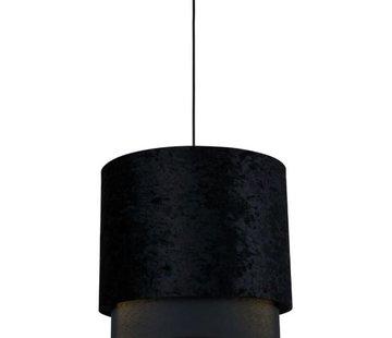 L&M Hanglamp Met Zwarte Velvet Kap