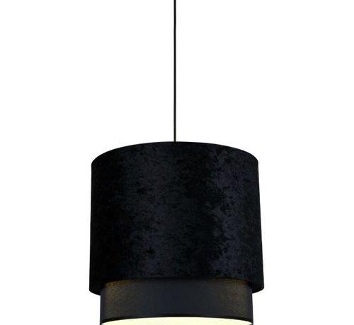 L&M Hanglamp Met Zwarte Velvet Kap  3 Maten