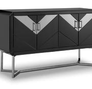 L&M Dressoir Ashwie Spiegel Glas - Zilver