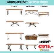 L&M Woonkamerset - Sleeper Wood - Zilver