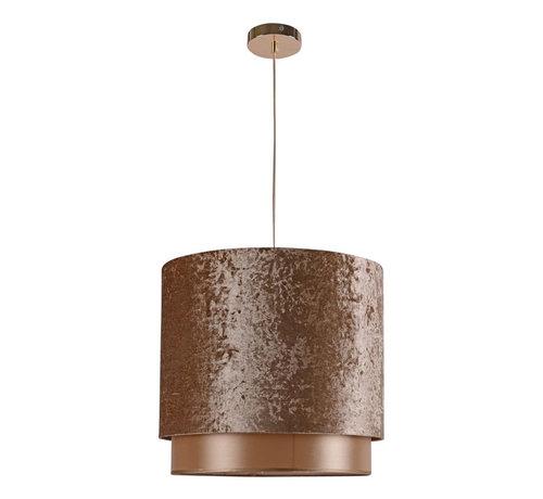 L&M Hanglamp Met Geel Goud Velvet Kap