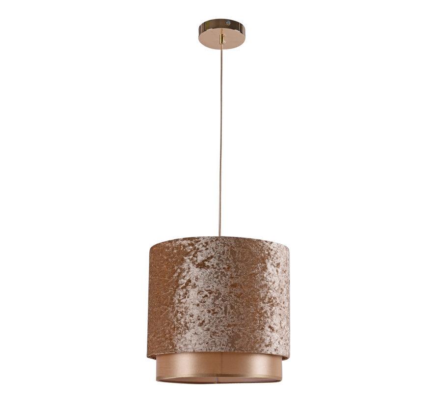 Hanglamp Met Geel Goud Velvet Kap