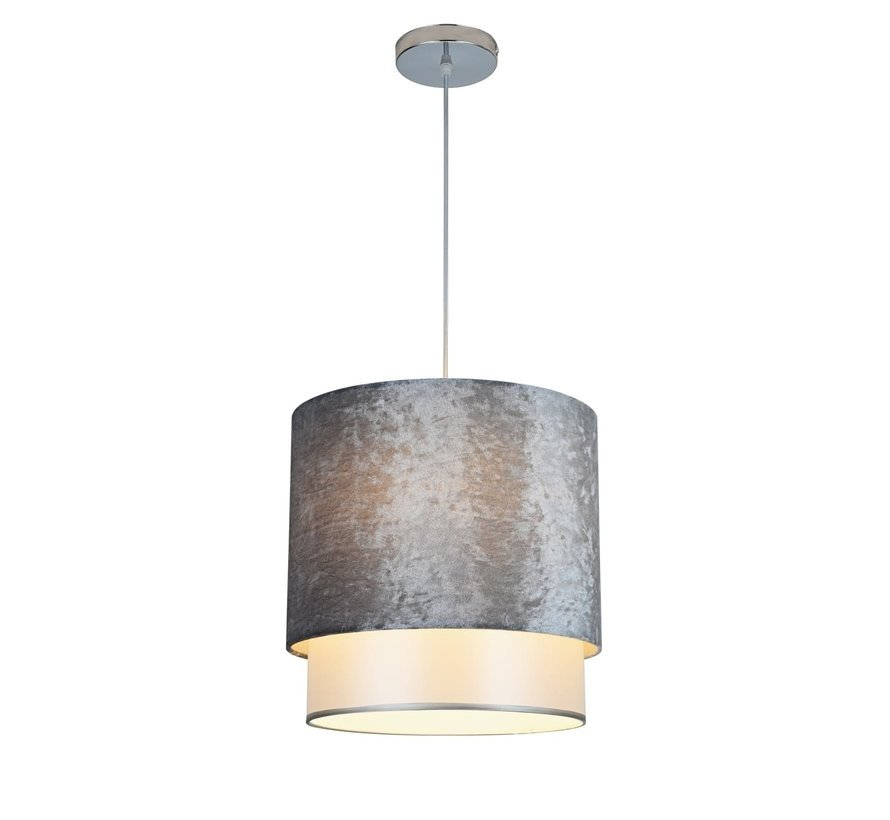 Hanglamp Met Grijs Velvet Kap