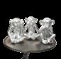 Decoratie Figuur Apen - Zilver Kleurig  set van 3