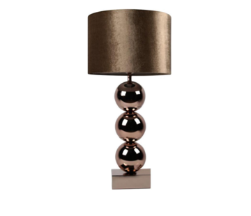 Erik Kuster Style Bollamp - Brede Bollen - Brons - Tafellamp - 3 Bollen - vierkante voet