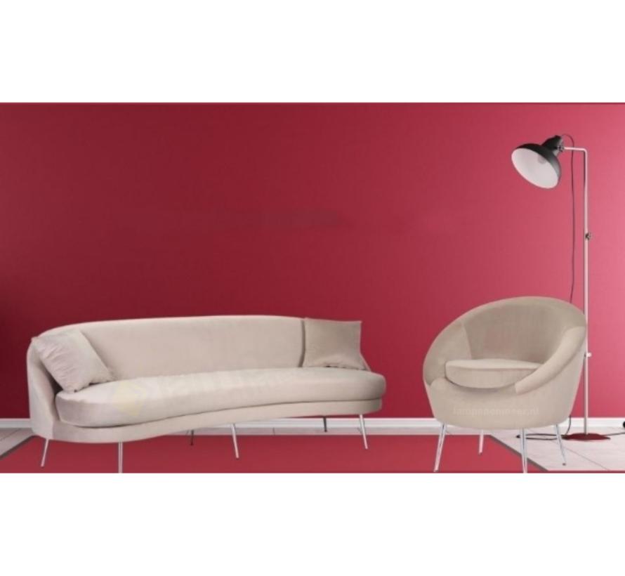 Zitbank Monaco Velvet Zilver - Diverse kleuren