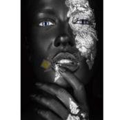 Ter Halle Black Diamont-Glasschilderij-120x80