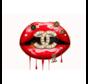 Kiss Of Chanel-Glasschilderij-120x80