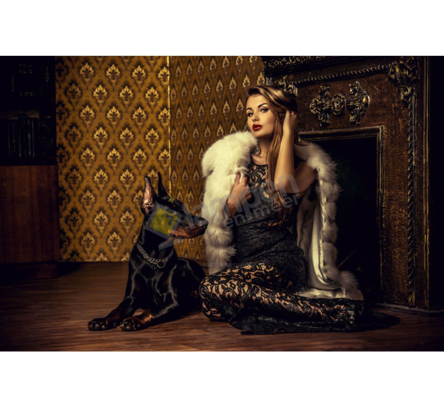 Dog Women-Glasschilderij-160x110