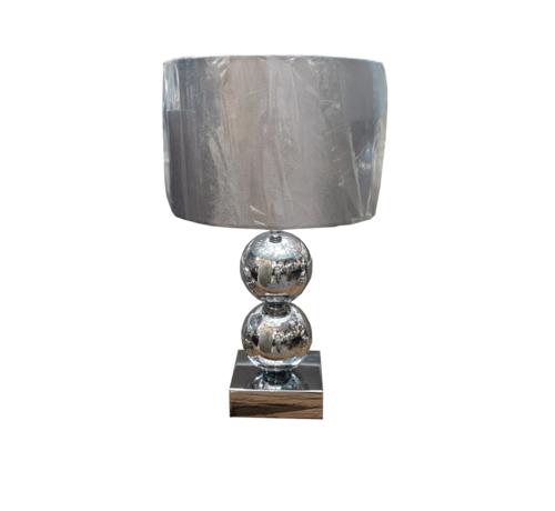 L&M Bollamp - Zilver - Tafellamp - 2 Bollen