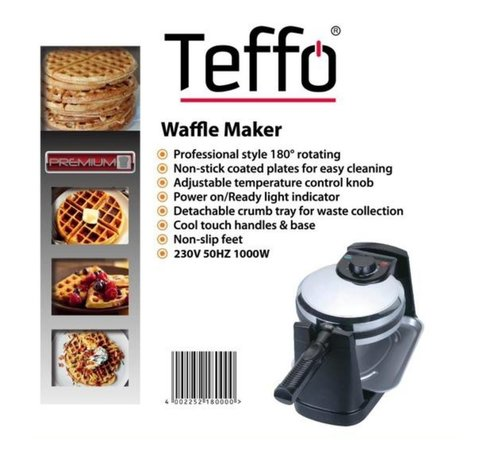 Teffo Wafelijzer - 180° Roterend I Teffo