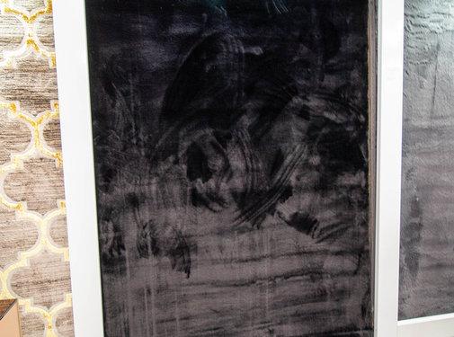 L&M Hoogpolig Vloerkleed Black