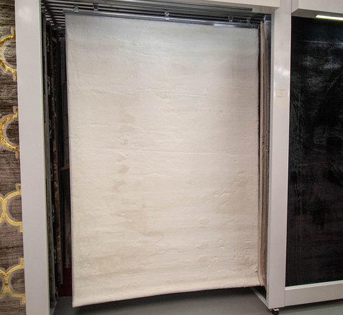 L&M Hoogpolig Vloerkleed White