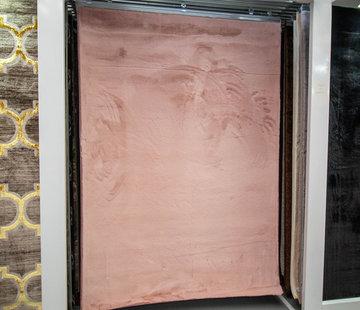 L&M Hoogpolig Vloerkleed Pink