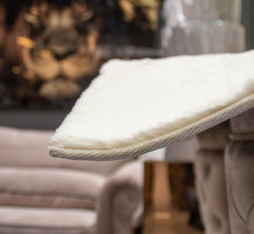 Hoogpolig Vloerkleed White Cream