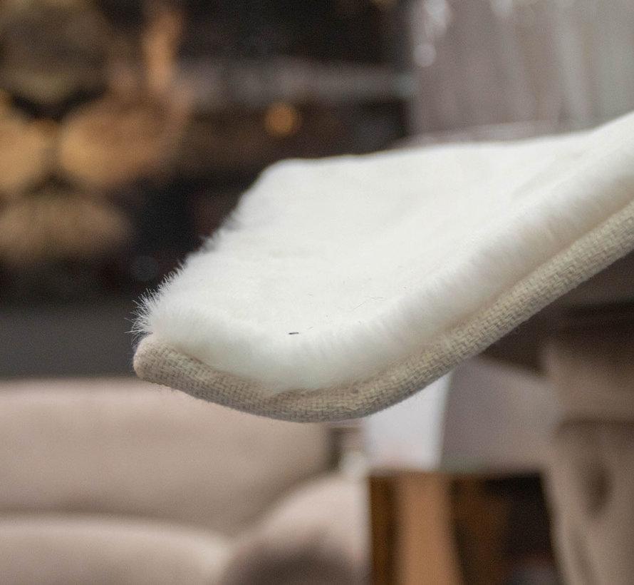 Hoogpolig Vloerkleed White