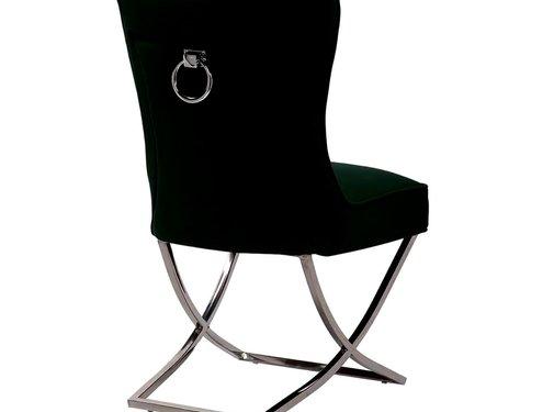 L&M Richmond Style Stoel 2021 Zwart Velvet / Zilver