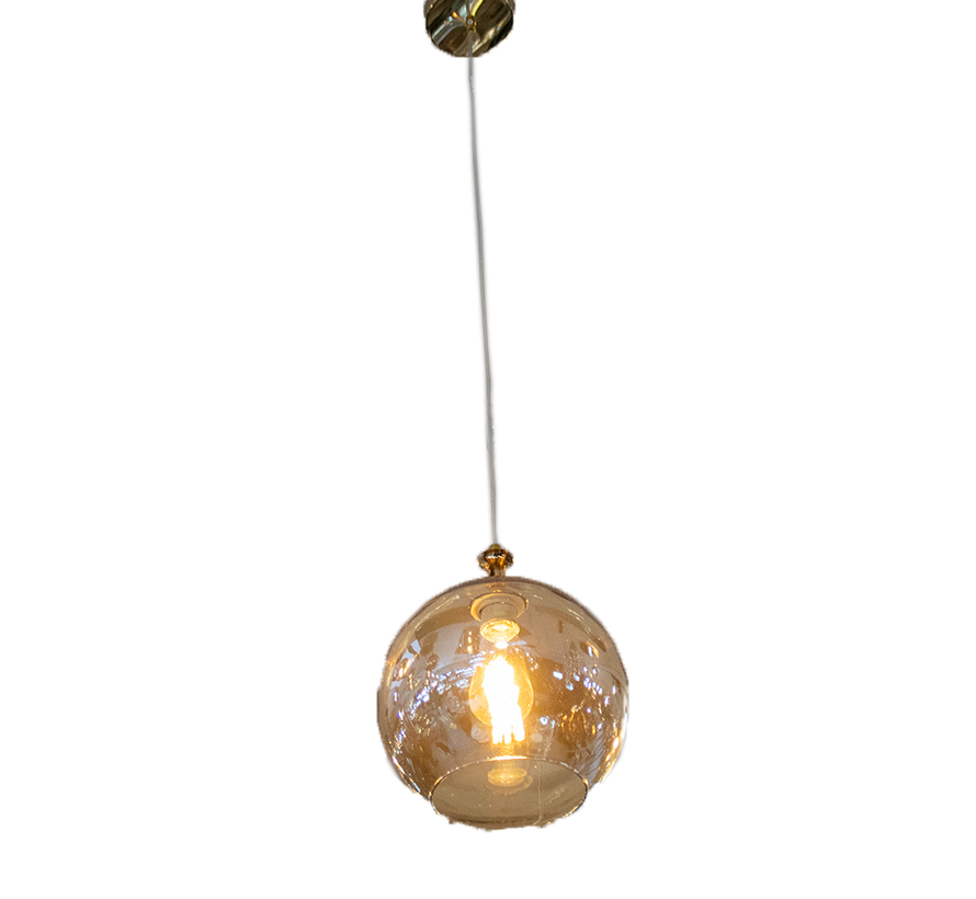 Hanglamp Illusion Gold Smoking Glass 1 licht