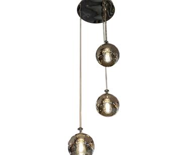L&M Hanglamp Illusion Smoking Glass 3 lichts